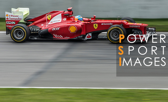 Scuderia Ferrari driver Fernando Alonso of Spain speeds his F2012 car during the F1 Grand Prix du Canada at the Circuit Gilles-Villeneuve on June 08, 2012 in Montreal, Canada. Photo by Victor Fraile / The Power of Sport Images