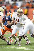 Boston College Eagles quarterback Chase Rettig (11) during a game against the Syracuse Orange at the Carrier Dome on November 30, 2013 in Syracuse, New York.  Syracuse defeated Boston College 34-31.  (Copyright Mike Janes Photography)