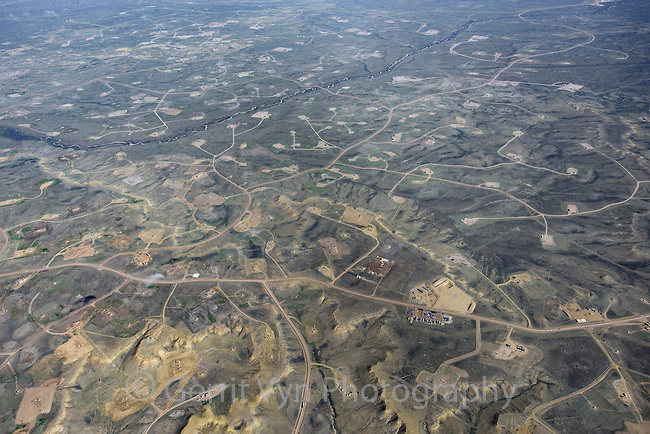 Jonah Field natural gas well pads. Pinedale, Wyoming.