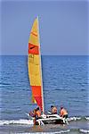 Tourists Preparing To Sail At Livingstonia Hotel Beach