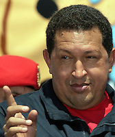 Venezuelan President Hugo Chavez, gestures during the  Meeting for the Friendship of the Iberoamerican People  in Santiago de Chile, Saturday, November  10, 2007.The meeting was a parallel event of the Iberoamerican Summit...