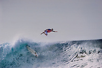 Kelly Slater, 11x ASP World Surfing Champion, at 2006 Rip Curl Pro Pipe Masters, Banzai Pipeline on North Shore of Oahu.