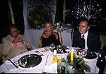 EMILIO FEDE CON SANTORO E LA MOGLIE<br /> FESTA PER I 60 ANNI DI MAURIZIO COSTANZO<br /> MANEGGIO DI GIANNELLA  1998
