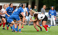 24 August 2019; Neve Jones and Stacey-Lea Kennedy drive for the line during the Women's Interprovincial Championship match between Ulster and Leinster at Armagh RFC in Armagh. Photo by John Dickson / DICKSONDIGITAL