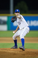 Burlington Royals relief pitcher Michael Silva (15) in action against the Kingsport Mets at Burlington Athletic Stadium on July 18, 2016 in Burlington, North Carolina.  The Royals defeated the Mets 8-2.  (Brian Westerholt/Four Seam Images)