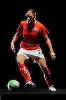 Abby Wambach of the Washington Freedom during a Women's Professional Soccer photo shoot in Brooklyn, New York on February 17, 2010.