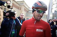 Greg Van Avermaet (BEL/BMC) before the start<br /> <br /> 71st Omloop Het Nieuwsblad 2016