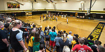 October 12, 2017- Tuscola, IL- The opening tip with Tuscola vs. Arcola as the 8th grade Hornet Girls Basketball team plays their first game of the season in the newly remodeled East Prairie gymnasium. [Photo: Douglas Cottle]