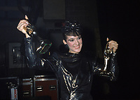 Montreal (Qc) CANADA - File Photo - October 1985 - Celine Dion at the 1985 ADISQ Gala where she received two Felix awards.<br /> <br /> -Photo (c)  Images Distribution
