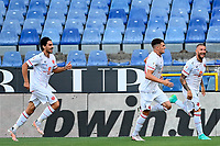 esultanza gol Mirko Carretta <br /> during the Italy cup football match between Genoa CFC and Perugia at Stadio Marassi in Genova (Italy), August 13th, 2021. Photo Image Sport / Insidefoto