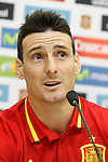 Aritz Aduriz in press conference during Spanish national football team staff. March 21,2016. (ALTERPHOTOS/Acero)