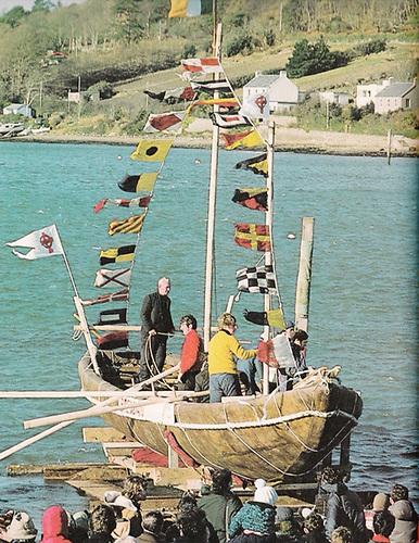 Brendan launching at Crosshaven in 1976