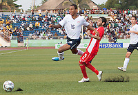 Juan Agudel chases down the ball. US Under-17 Men's National Team defeated United Arab Emirates 1-0 at Gateway International  Stadium in Ijebu-Ode, Nigeria on November 1, 2009.