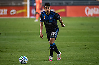 SAN JOSE, CA - SEPTEMBER 13: Andres Rios #25 of the San Jose Earthquakes during a game between Los Angeles Galaxy and San Jose Earthquakes at Earthquakes Stadium on September 13, 2020 in San Jose, California.