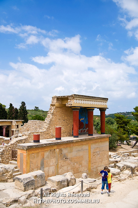 Perfect vertical composition of the famous King Minos's palace in Knossos, Crete
