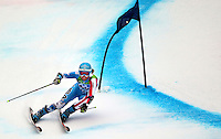 USA's Julia Mancuso of Olympic Valley, Calif., passes a gate near the end of her second run in the ladies' giant slalom at the XXI Olympic Winter Games Thursday, February 25, 2010 in Whistler, British Columbia.