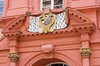 Europe/Allemagne/Bade-Würrtemberg/Heidelberg: détail façade et portail baroque de la pharmacie du prince électeur