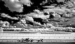 July 11, 2020: Horses pass the stands during the Robert Dick Memorial Stakes on Delaware Handicap Day at Delaware Park in New Stanton, Delaware. Scott Serio/Eclipse Sportswire/CSM
