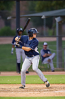AZL Padres third baseman Jonny Homza (17) at bat against the AZL White Sox on July 31, 2017 at Camelback Ranch in Glendale, Arizona. AZL White Sox defeated the AZL Padres 2-1. (Zachary Lucy/Four Seam Images)