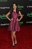 LOS ANGELES - FEB 17:  Tiffany Espensen at the Zootopia Premiere at the El Capitan Theater on February 17, 2016 in Los Angeles, CA