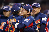 Tatsuhiko Kinjoh of Japan during World Baseball Championship at Petco Park in San Diego,California on March 20, 2006. Photo by Larry Goren/Four Seam Images