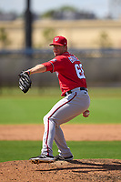 Washington Nationals pitcher Bryan Bonnell (68) during a Minor League Spring Training game against the Houston Astros on April 27, 2021 at FITTEAM Ballpark of the Palm Beaches in Palm Beach, Fla.  (Mike Janes/Four Seam Images)