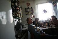 "SERBIA, Belgrade, Jan. 18, 2007..Milan Pjevalica (60) refugee from Croatia, Knin, sits in his room in a refugee camp ""Krnjaca"" near Belgrade,..© Djordje Jovanovic /EST&OST"