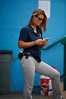 Brooklyn Cyclones athletic trainer Vanessa Weisbach during a NY-Penn League game against the Tri-City ValleyCats on August 17, 2019 at MCU Park in Brooklyn, New York.  Brooklyn defeated Tri-City 2-1.  (Mike Janes/Four Seam Images)