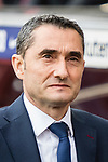 Coach Luis Ernesto Valverde Tejedor of FC Barcelona reacts prior to the La Liga 2017-18 match between FC Barcelona and Getafe FC at Camp Nou on 11 February 2018 in Barcelona, Spain. Photo by Vicens Gimenez / Power Sport Images