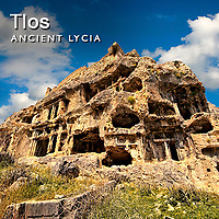 Tlos Lycian Rock Tombs Pictures, Images & Photos, Turkey