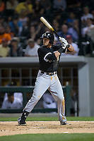 Trey Michalczewski (99) of the Chicago White Sox at bat against the Charlotte Knights at BB&T Ballpark on April 3, 2015 in Charlotte, North Carolina.  The Knights defeated the White Sox 10-2.  (Brian Westerholt/Four Seam Images)