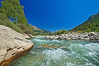 France, Alpes-de-Haute-Provence (04), Haut-Verdon, Parc National du Mercantour, le lit du Verdon au niveau de Beauvezer // France, Alpes de Haute Provence, Haut Verdon, Parc National du Mercantour (Mercantour National Park), the bed of the Verdon river at the level of Beauvezer