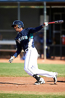Seattle Mariners minor league outfielder Phillips Castillo #16 during an instructional league game against the Kansas City Royals at the Peoria Sports Complex on October 2, 2012 in Peoria, Arizona.  (Mike Janes/Four Seam Images)