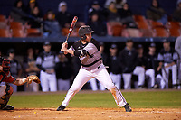 Wisconsin-Milwaukee Panthers designated hitter John Boidanis (27) at bat during a game against the Ball State Cardinals on February 26, 2016 at Chain of Lakes Stadium in Winter Haven, Florida.  Ball State defeated Wisconsin-Milwaukee 11-5.  (Mike Janes/Four Seam Images)