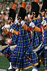 The Irish Guard marches onto the field for a University of Notre Dame home football game.<br /> <br /> Photo by Matt Cashore/University of Notre Dame