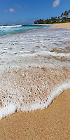 Waves on the famous Sunset Beach on the famous North Shore of Oahu, Hawaii.   Tiny bubbles, In the wine, Make me happy, Make me feel fine