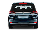 Straight rear view of 2017 Opel Zafira Innovation 5 Door Mini MPV Rear View  stock images