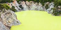 Devil's Bath in Wai-O-Tapu Thermal Wonderland, Rotorua Region, Central Plateau, North Island, New Zealand, NZ