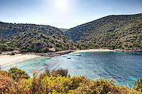 The beaches of Agia Jerusalem in Kefalonia island, Greece