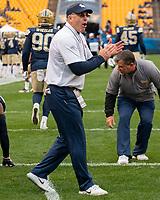 Pitt head coach Pat Narduzzi. The Pitt Panthers football team defeated the Duke Blue Devils 54-45 on November 10, 2018 at Heinz Field, Pittsburgh, Pennsylvania.