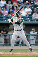 Fort Wayne TinCaps shortstop Tyler Stubblefield (4) during a game against the Great Lakes Loons on August 19, 2013 at Dow Diamond in Midland, Michigan.  Great Lakes defeated Fort Wayne 12-5.  (Mike Janes/Four Seam Images)