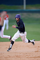 Niagara University Purple Eagles Julian Gallup (20) running the bases during a game against the Ohio State Buckeyes on February 20, 2016 at Holman Stadium at Historic Dodgertown in Vero Beach, Florida.  Ohio State defeated Niagara 10-7.  (Mike Janes/Four Seam Images)