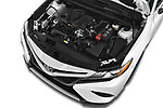 Car Stock 2018 Toyota Camry XSE 4 Door Sedan Engine  high angle detail view