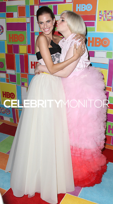 WEST HOLLYWOOD, CA, USA - AUGUST 25: Allison Williams, Lena Dunham at HBO's 66th Annual Primetime Emmy Awards After Party held at the Pacific Design Center on August 25, 2014 in West Hollywood, California, United States. (Photo by Xavier Collin/Celebrity Monitor)