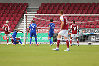 5th September 2020; PTS Academy Stadium, Northampton, East Midlands, England; English Football League Cup, Carabao Cup, Northampton Town versus Cardiff City; Ryan Watson of Northampton Town scores for 3-0