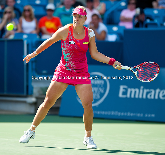 Angelique Kerber of Germany at the Western & Southern Open in Mason, OH on August 17, 2012.
