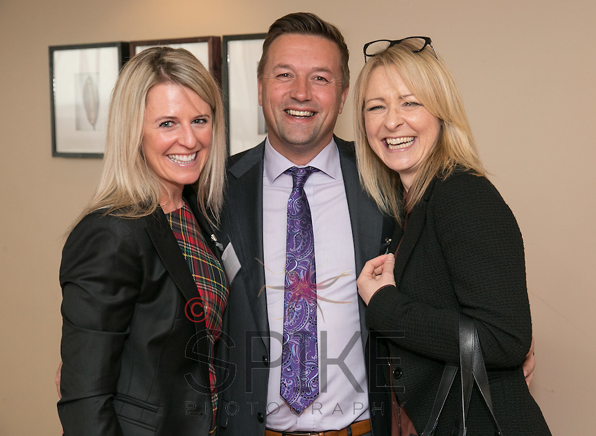 Pictured from left are Jenna Frudd of FC7, Nigel Jemson of Alea Casino and Sara Harraway of CPMG Architects