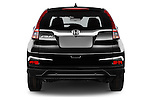 Straight rear view of 2015 Honda CR-V Elegance 5 Door SUV Rear View  stock images