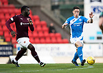 St Johnstone v Hearts…05.04.17     SPFL    McDiarmid Park<br />Clive Smith and Esmael Gonclaves<br />Picture by Graeme Hart.<br />Copyright Perthshire Picture Agency<br />Tel: 01738 623350  Mobile: 07990 594431