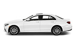Car Driver side profile view of a 2021 Mercedes Benz E-Class-Sedan E350 4 Door Sedan Side View